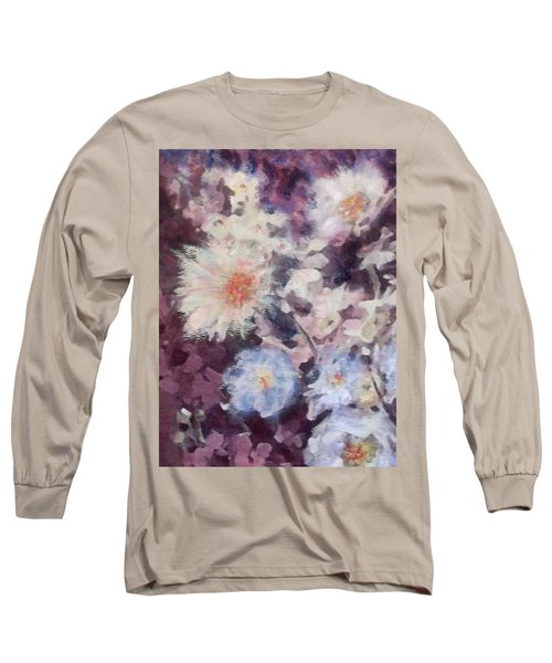 Flower  Burst Long Sleeve T-Shirt by Richard James Digance
