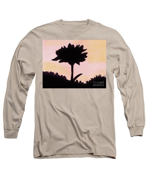 Long Sleeve T-Shirt featuring the drawing Flower - Sunrise by D Hackett