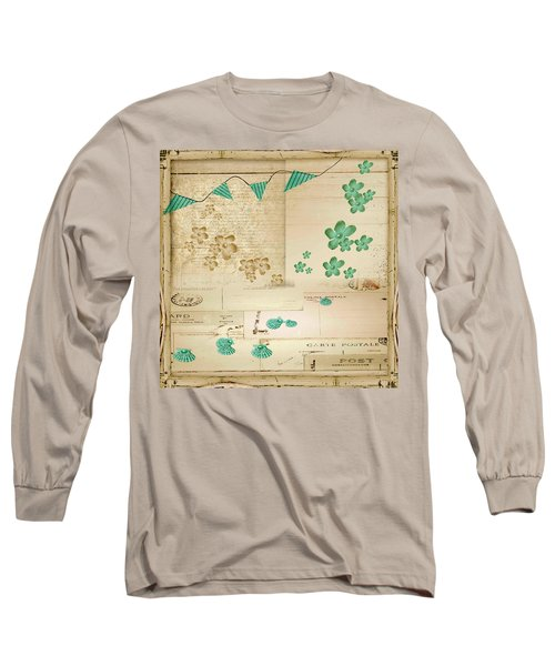 Flowers And Bunting Long Sleeve T-Shirt