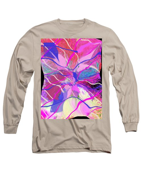 Original Contemporary Abstract Art Flowers From Heaven Long Sleeve T-Shirt by RjFxx at beautifullart com