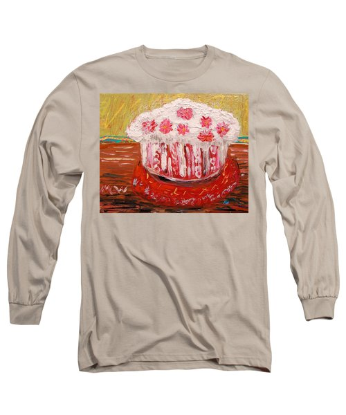 Long Sleeve T-Shirt featuring the painting Flowers In The Frosting by Mary Carol Williams