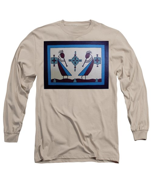 Flute Players Long Sleeve T-Shirt by Stephanie Moore