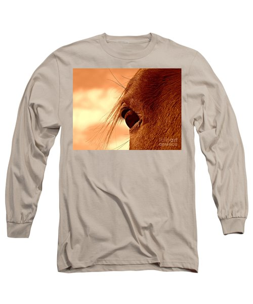 Fly In The Eye Long Sleeve T-Shirt by Clare Bevan