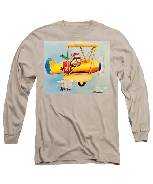Long Sleeve T-Shirt featuring the painting Flying Friends by LeAnne Sowa