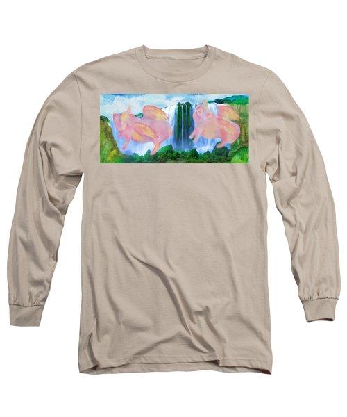 Flying Pigs Long Sleeve T-Shirt