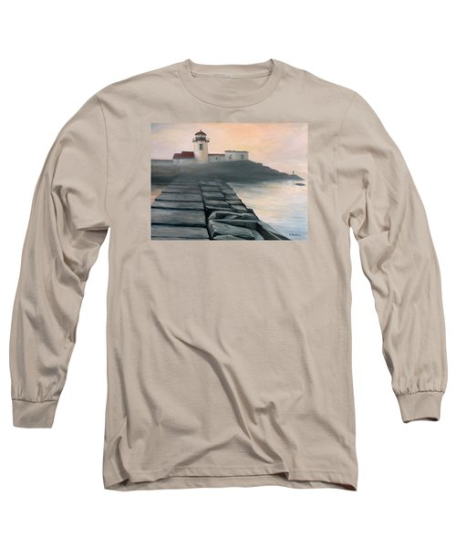 Fog Burning Off Long Sleeve T-Shirt by Eileen Patten Oliver