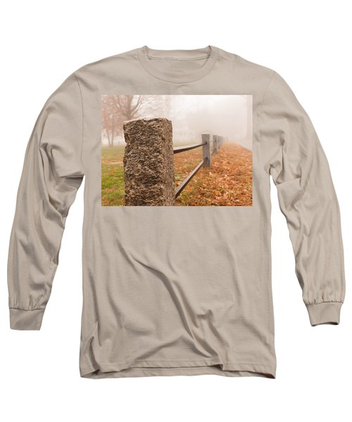 Foggy Morning In Ellington Long Sleeve T-Shirt