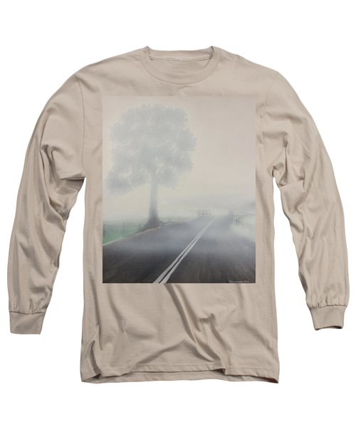 Foggy Road Long Sleeve T-Shirt by Tim Mullaney