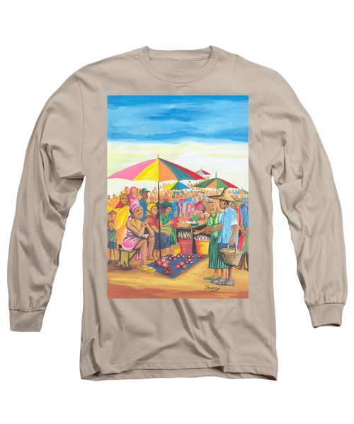 Food Market In Cameroon Long Sleeve T-Shirt