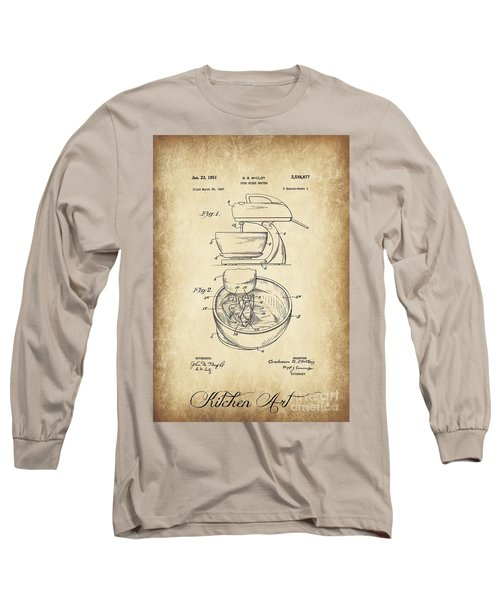 Food Mixer Patent Kitchen Art Long Sleeve T-Shirt