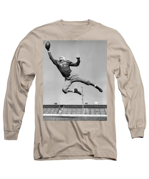 Football Player Catching Pass Long Sleeve T-Shirt