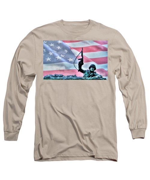 For Freedom Long Sleeve T-Shirt by Dan Stone