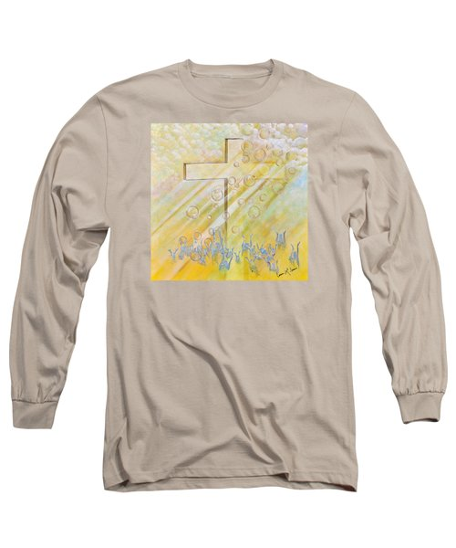 For The Cross Long Sleeve T-Shirt by Cassie Sears