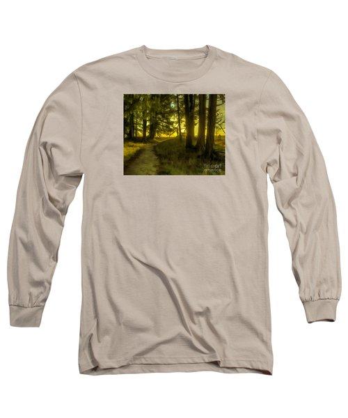 Forest Path Long Sleeve T-Shirt by Jean OKeeffe Macro Abundance Art
