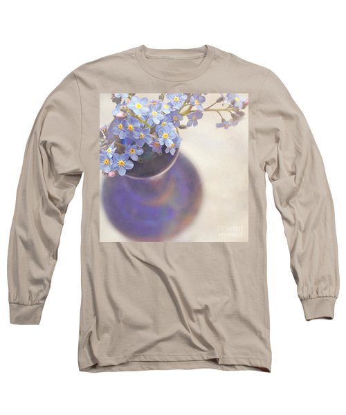 Forget Me Nots In Blue Vase Long Sleeve T-Shirt