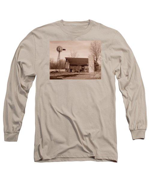 Forgotten Farm Long Sleeve T-Shirt by Judy Whitton
