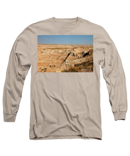 Fossil Exhibit Trail Badlands National Park Long Sleeve T-Shirt