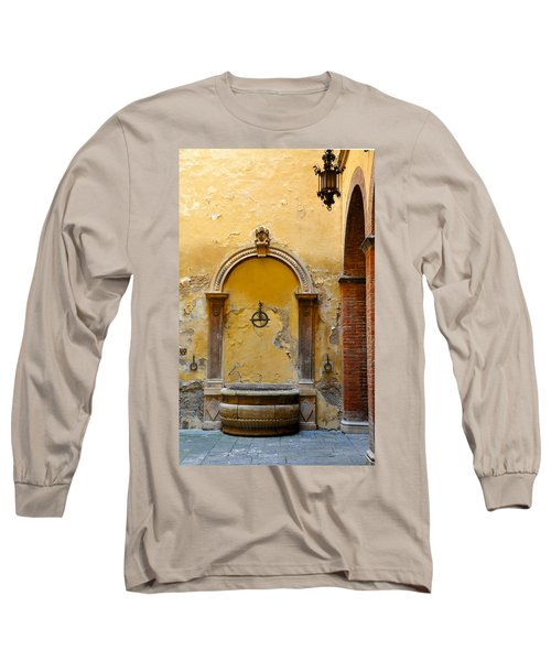 Fountain In Sienna Long Sleeve T-Shirt