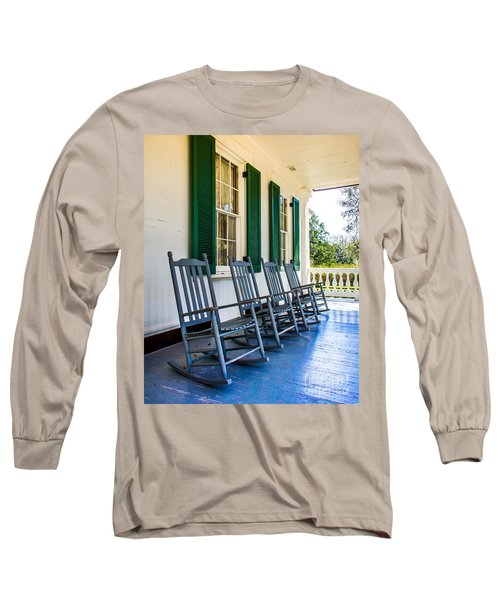 Four Porch Rockers Long Sleeve T-Shirt by Perry Webster