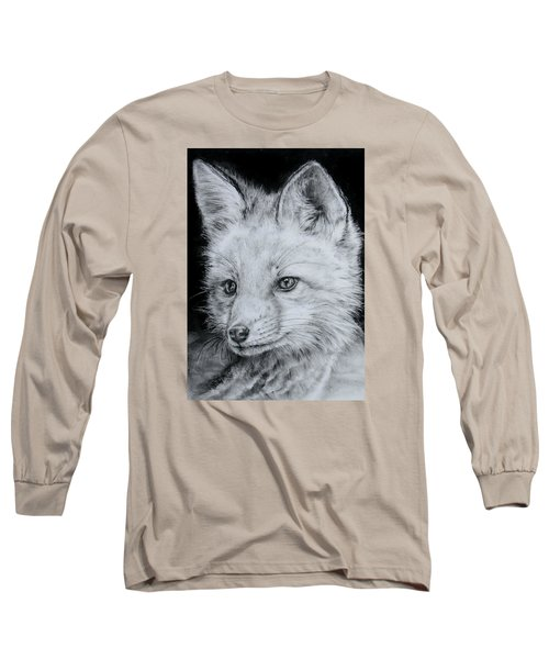 Fox Kit Long Sleeve T-Shirt by Jean Cormier