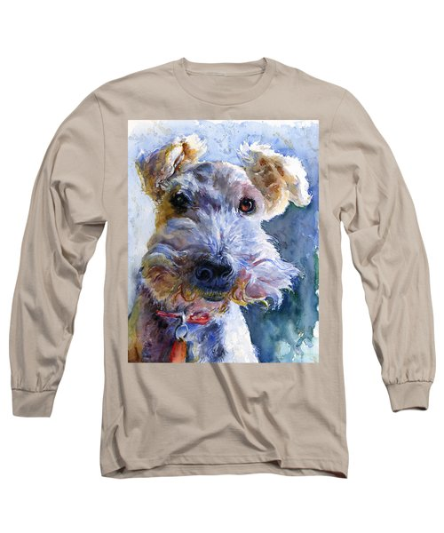 Fox Terrier Full Long Sleeve T-Shirt by John D Benson