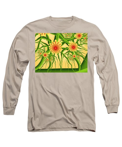 Fractal Summer Pleasures Long Sleeve T-Shirt