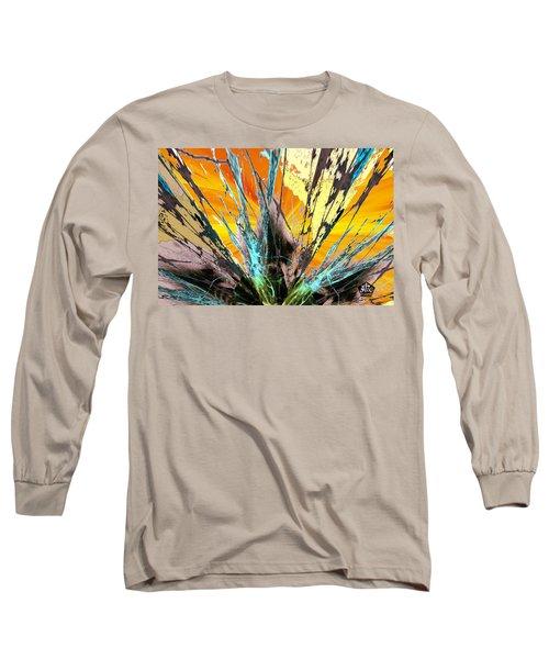 Fractured Sunset Long Sleeve T-Shirt