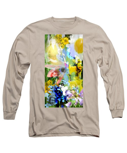 Long Sleeve T-Shirt featuring the digital art Framed In Flowers by Cathy Anderson