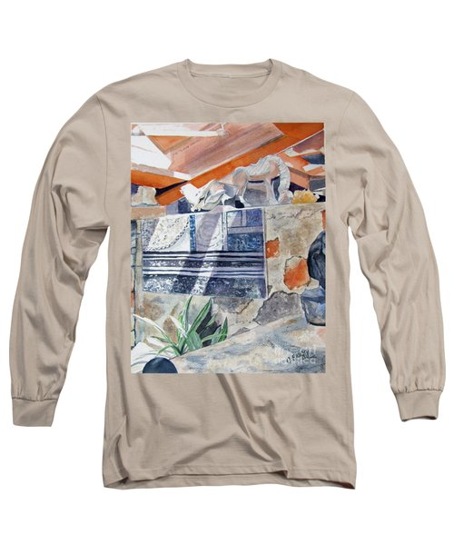Long Sleeve T-Shirt featuring the painting Frank Lloyd Wright Taliesin West 2 by Carol Flagg