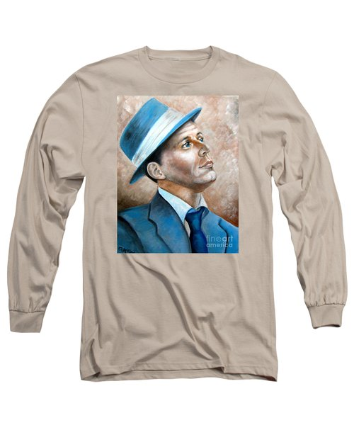 Frank Sinatra Ol Blue Eyes Long Sleeve T-Shirt by Patrice Torrillo
