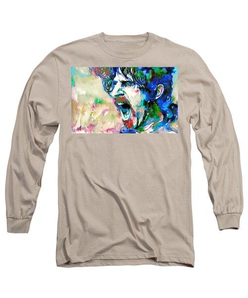 Frank Zappa  Portrait.4 Long Sleeve T-Shirt by Fabrizio Cassetta