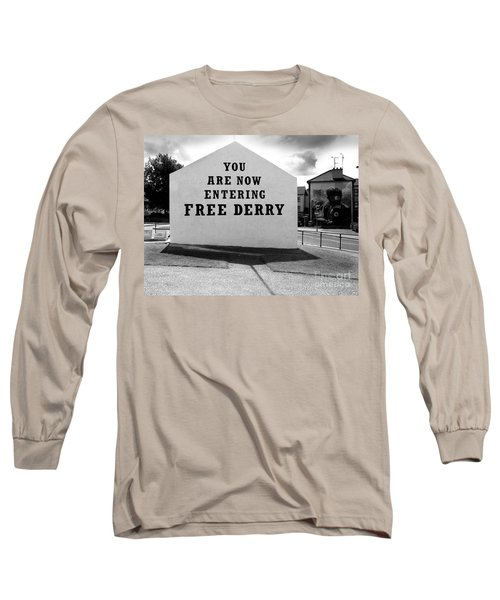 Long Sleeve T-Shirt featuring the photograph Free Derry Corner by Nina Ficur Feenan