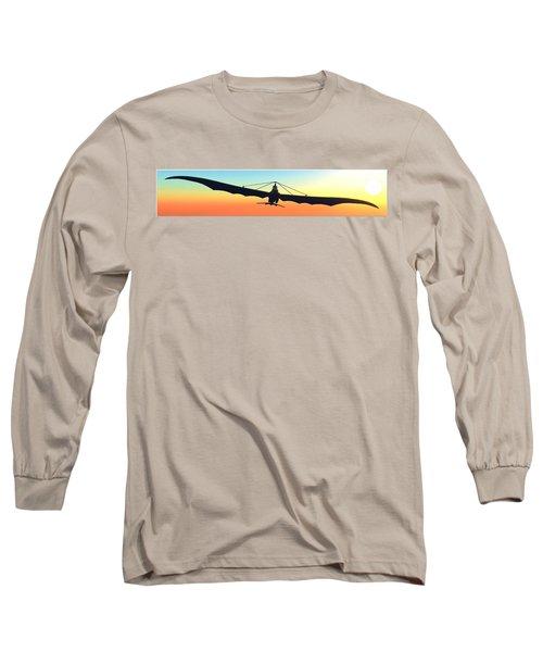 Long Sleeve T-Shirt featuring the digital art Free... by Tim Fillingim
