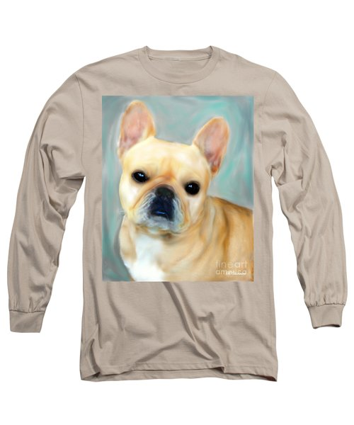 Long Sleeve T-Shirt featuring the painting French Bulldog Mystique D'or by Barbara Chichester