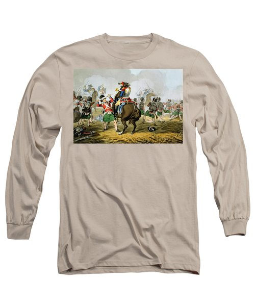 French Cuirassiers At The Battle Long Sleeve T-Shirt