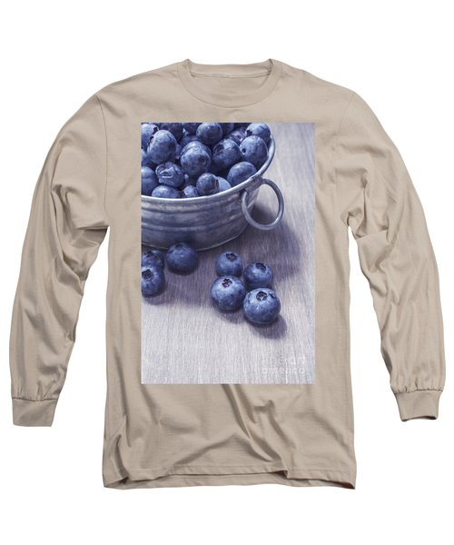 Fresh Picked Blueberries With Vintage Feel Long Sleeve T-Shirt