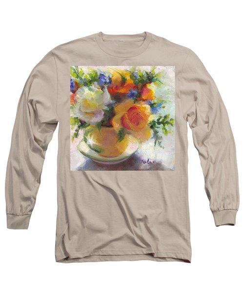 Fresh - Roses In Teacup Long Sleeve T-Shirt
