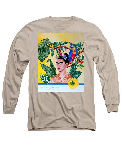 Frida Kahlo Long Sleeve T-Shirt by Thomas Gronowski