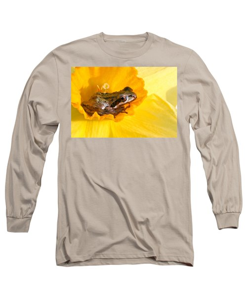 Frog And Daffodil Long Sleeve T-Shirt