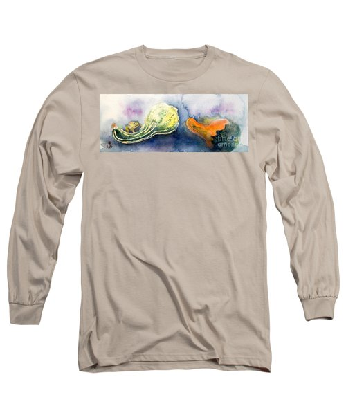 Froggy And Gourds Long Sleeve T-Shirt by Yoshiko Mishina