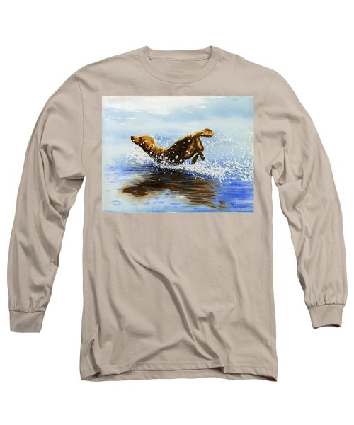 Frolicking Dog Long Sleeve T-Shirt