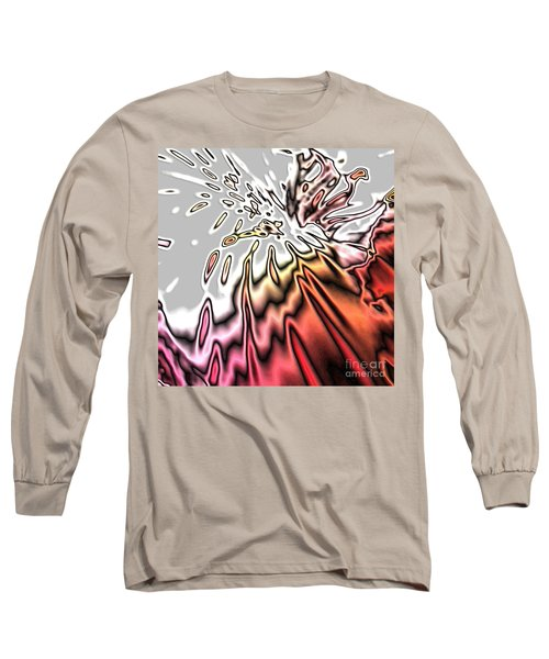 From Grey To Red. Beautiful Abstract Design Long Sleeve T-Shirt