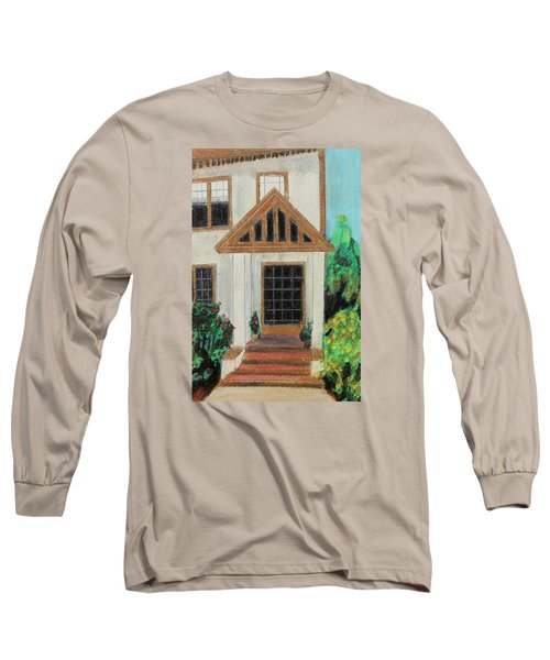 Long Sleeve T-Shirt featuring the painting Front Door 1 by Jeanne Fischer