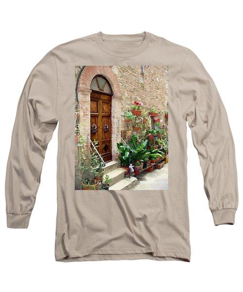 Front Door Long Sleeve T-Shirt by Ellen Henneke