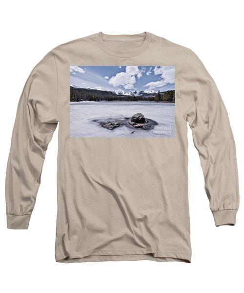 Long Sleeve T-Shirt featuring the photograph Frozen Lake by Mae Wertz