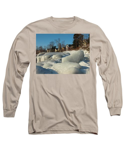 Long Sleeve T-Shirt featuring the photograph Frozen Surf by James Peterson