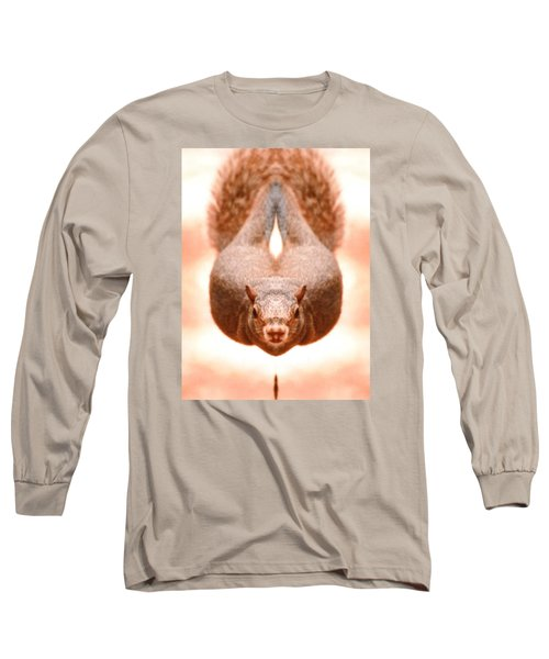 Flying Funky Brown Squirrel Long Sleeve T-Shirt
