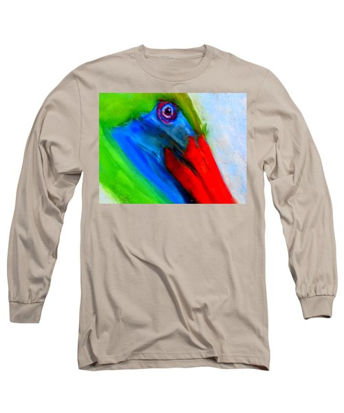Funky Colorful Pelican Art Prints Long Sleeve T-Shirt