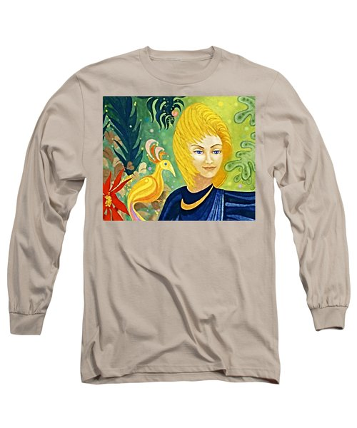 Long Sleeve T-Shirt featuring the painting Gaia - Spirit Of Nature by Hartmut Jager