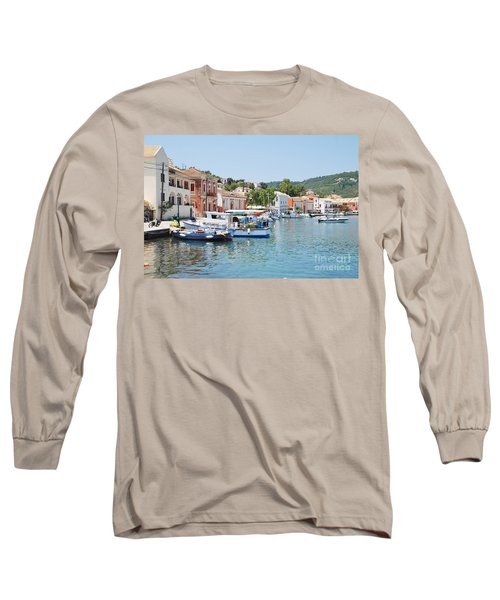 Gaios Harbour On Paxos Long Sleeve T-Shirt